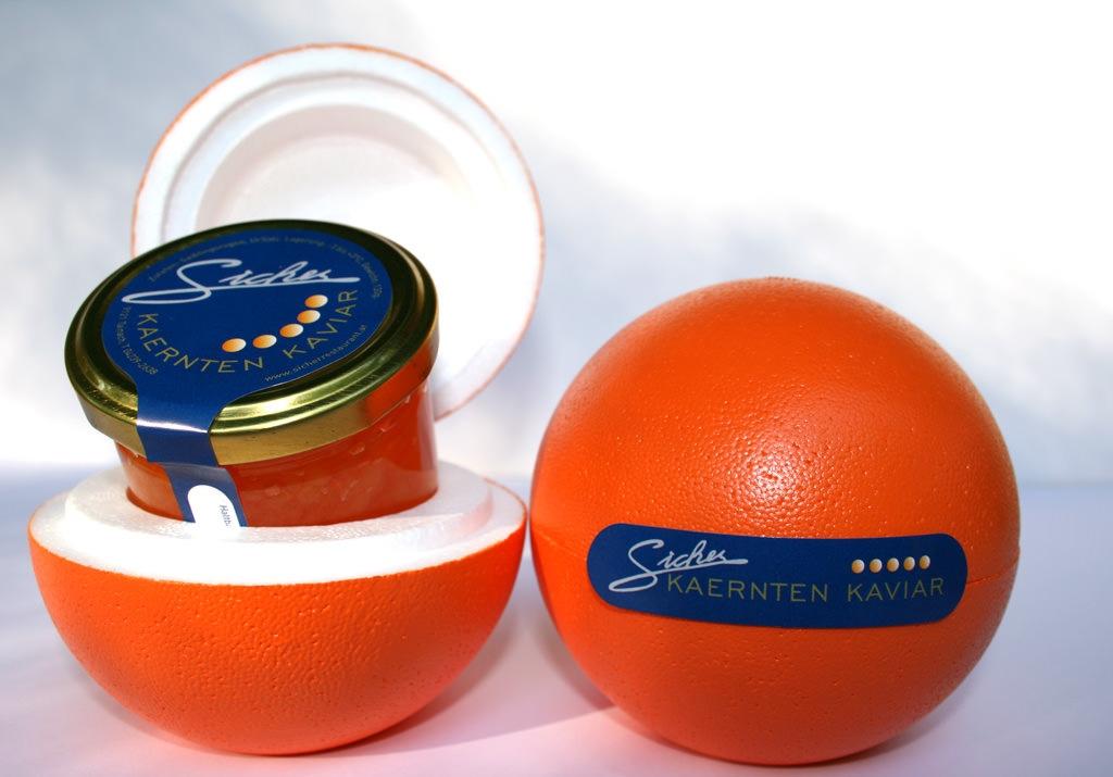 Sicher Kaviar Geschenkskugel